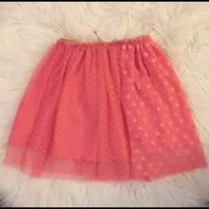 H&M Chiffon Polka Dot Layered Skirt